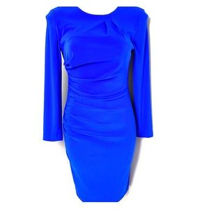 Joseph Ribkoff Stunning Blue Dress Sleeves